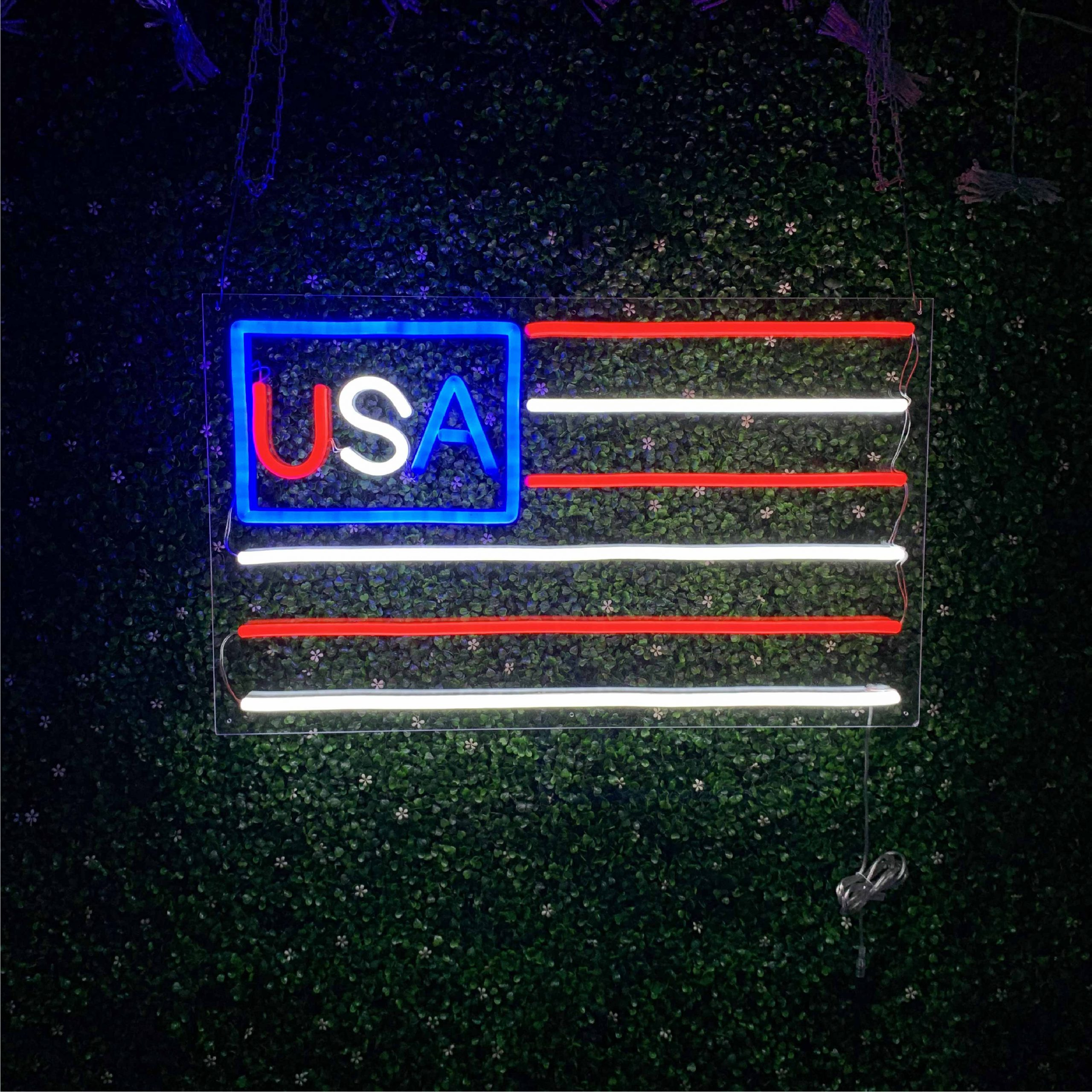USA Flag Led Neon Sign